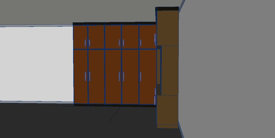 Furniture cupboard cabinets royalty-free 3d model - Preview no. 5