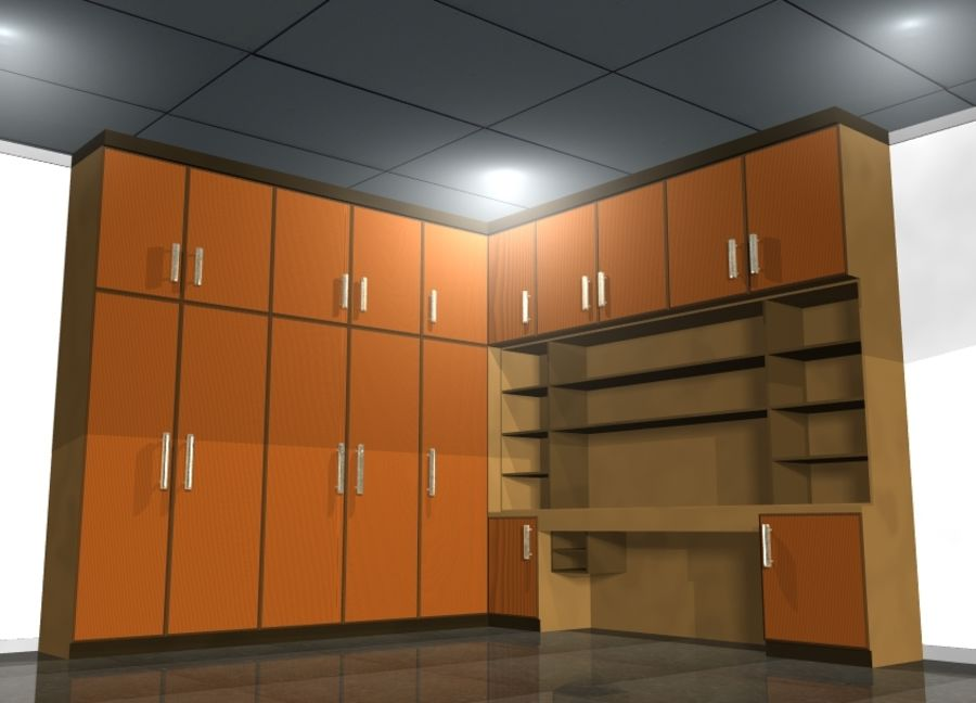 Furniture cupboard cabinets royalty-free 3d model - Preview no. 1