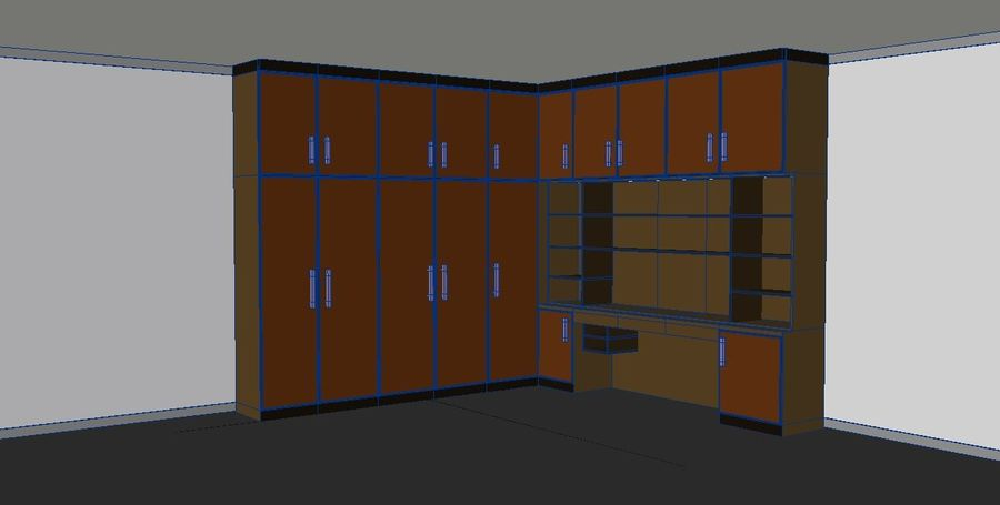 Furniture cupboard cabinets royalty-free 3d model - Preview no. 2