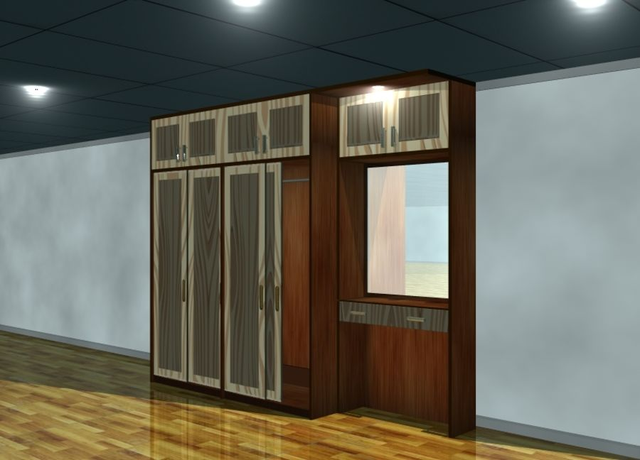 Möbel Kleiderschrank royalty-free 3d model - Preview no. 1