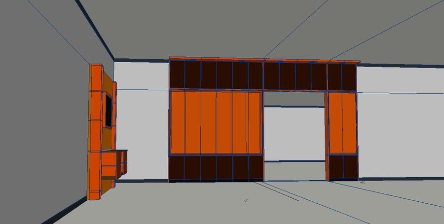 Muebles de mesa gabinetes royalty-free modelo 3d - Preview no. 5