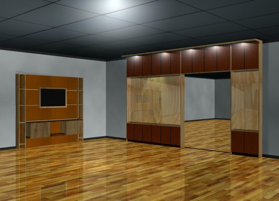 Muebles de mesa gabinetes royalty-free modelo 3d - Preview no. 1