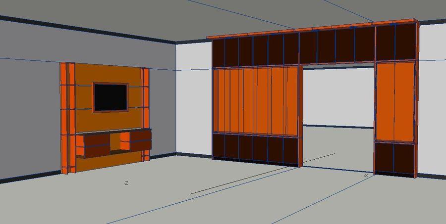 Muebles de mesa gabinetes royalty-free modelo 3d - Preview no. 2