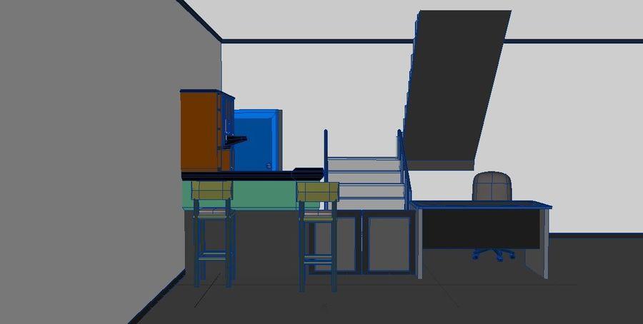 Mobilya masası dolapları royalty-free 3d model - Preview no. 5