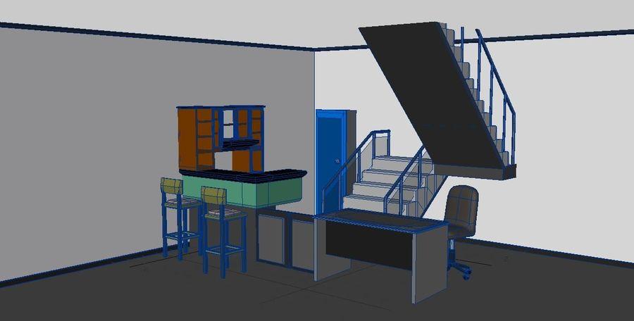 Шкафы настольные мебельные royalty-free 3d model - Preview no. 2