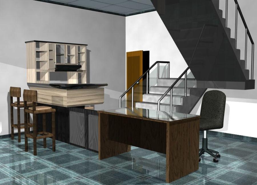 Gabinetes de escritorio de muebles royalty-free modelo 3d - Preview no. 1