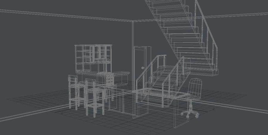 Gabinetes de escritorio de muebles royalty-free modelo 3d - Preview no. 3