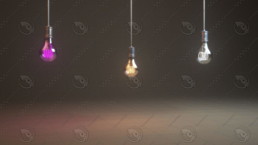 Vintage Bulb royalty-free 3d model - Preview no. 1