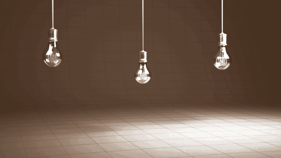 Vintage Bulb royalty-free 3d model - Preview no. 6