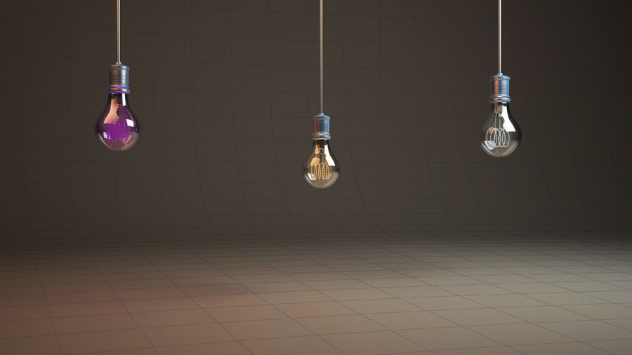 Vintage Bulb royalty-free 3d model - Preview no. 5