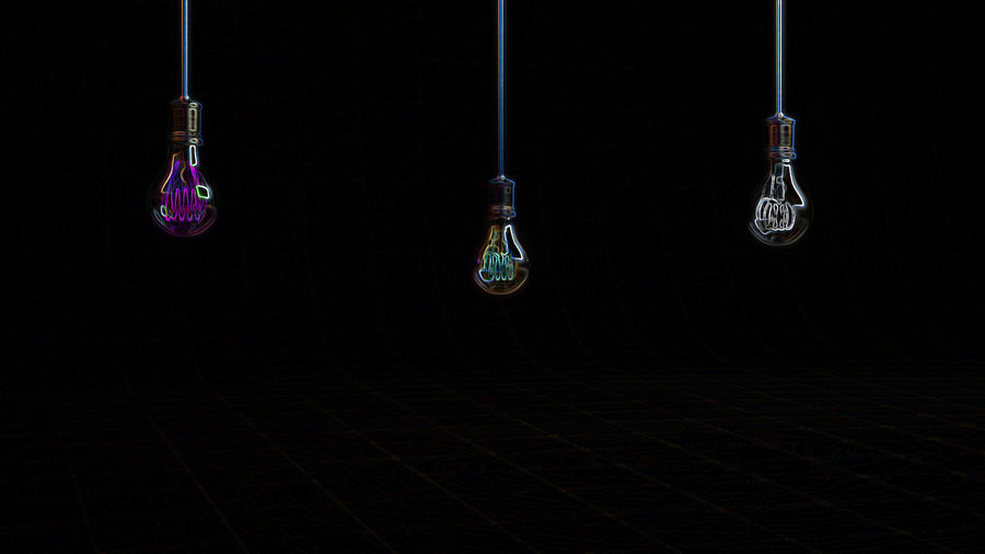 Vintage Bulb royalty-free 3d model - Preview no. 4