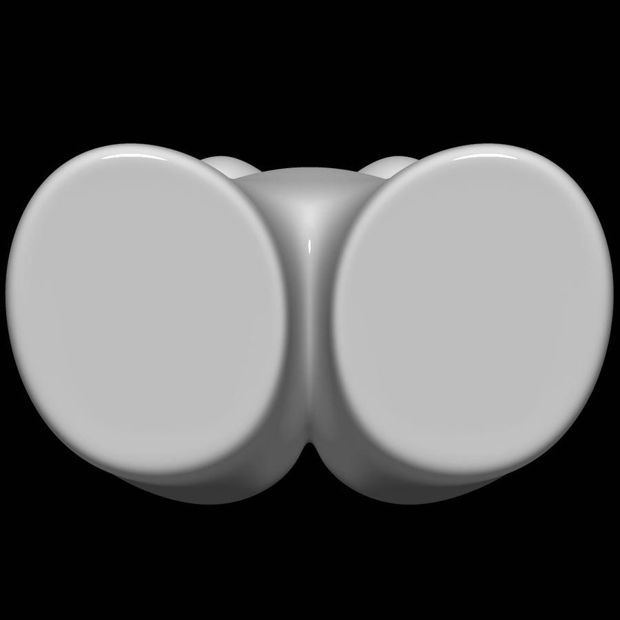 Manekin kobiecego ciała royalty-free 3d model - Preview no. 10