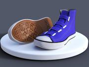 Buty na płótnie 3d model