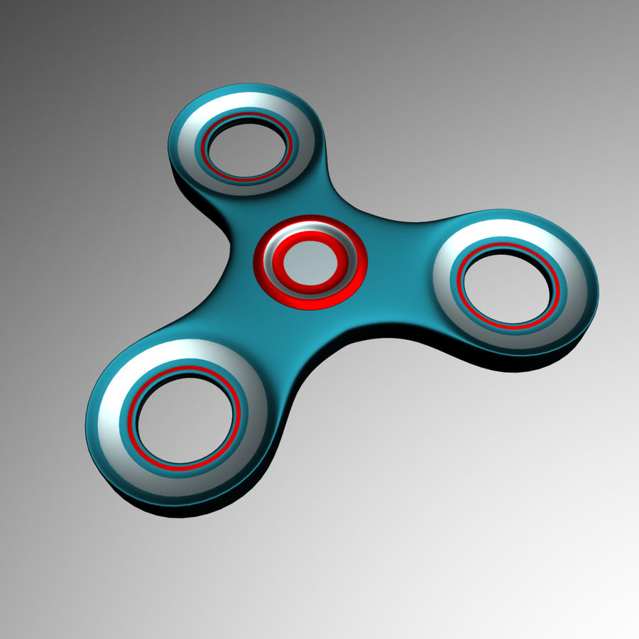 High Poly Spinner royalty-free 3d model - Preview no. 3