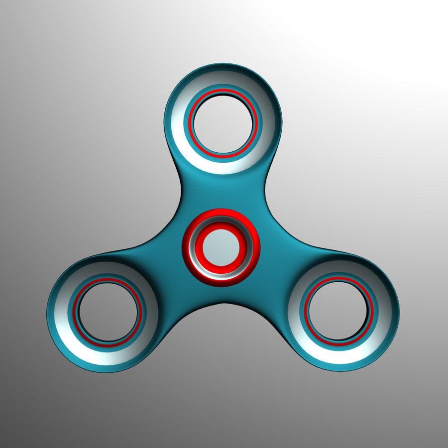 High Poly Spinner royalty-free 3d model - Preview no. 2