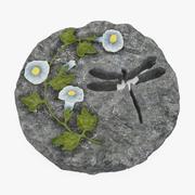 Decoratief Tuinstap 3D Model 3d model