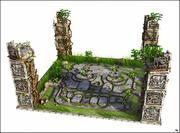 阿兹台克人地板景观 3d model