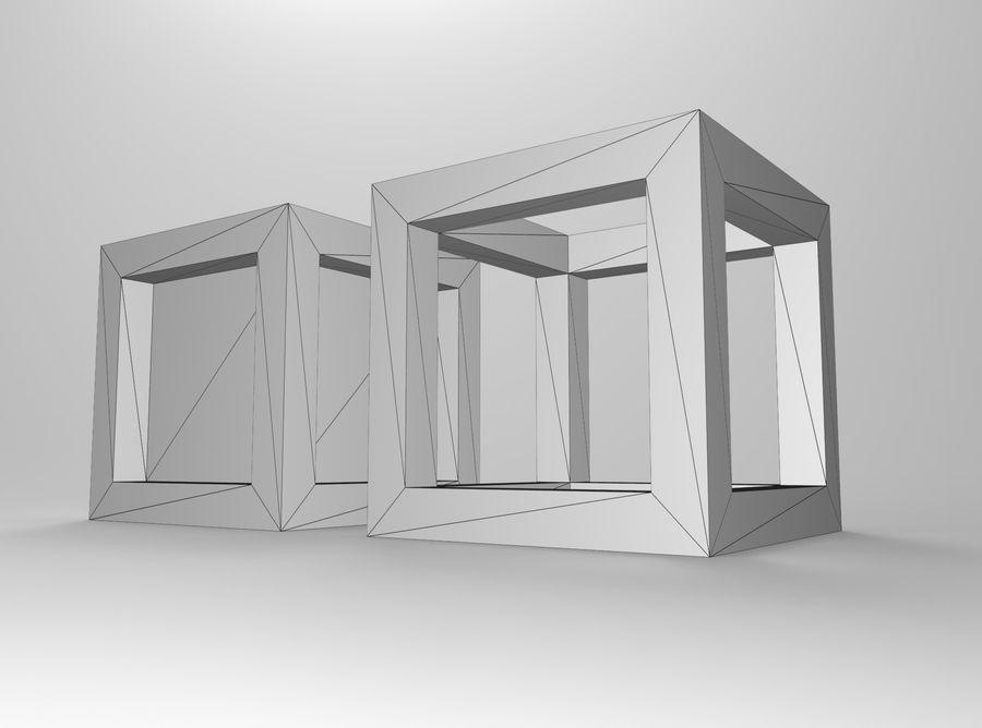 Cubo scatola incorniciato royalty-free 3d model - Preview no. 6