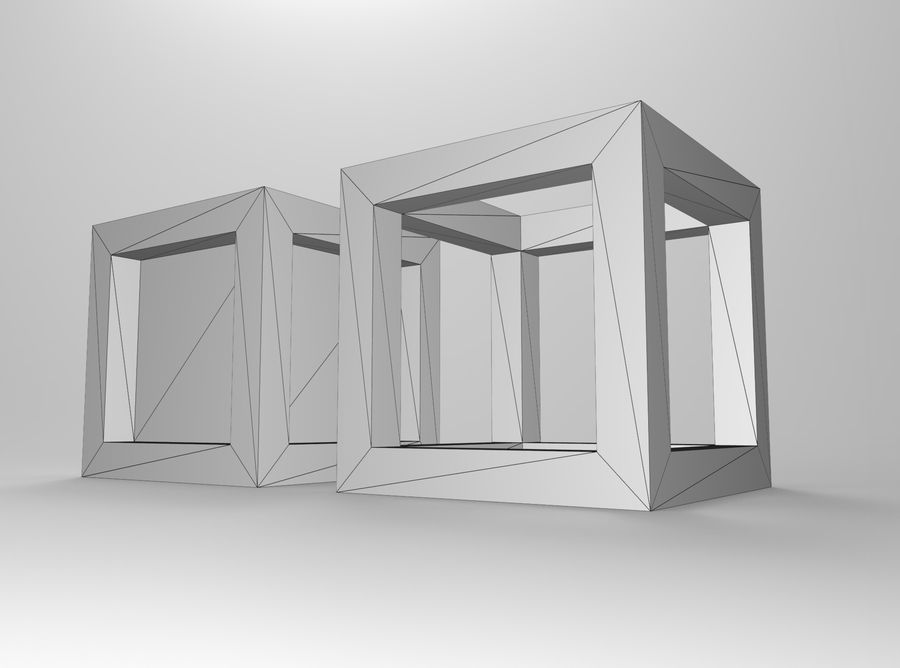 Framed box cube royalty-free 3d model - Preview no. 6