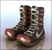 Dessin animé de bottes de sport 3d model