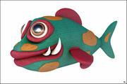 Fumetto Di Pesce 3d model
