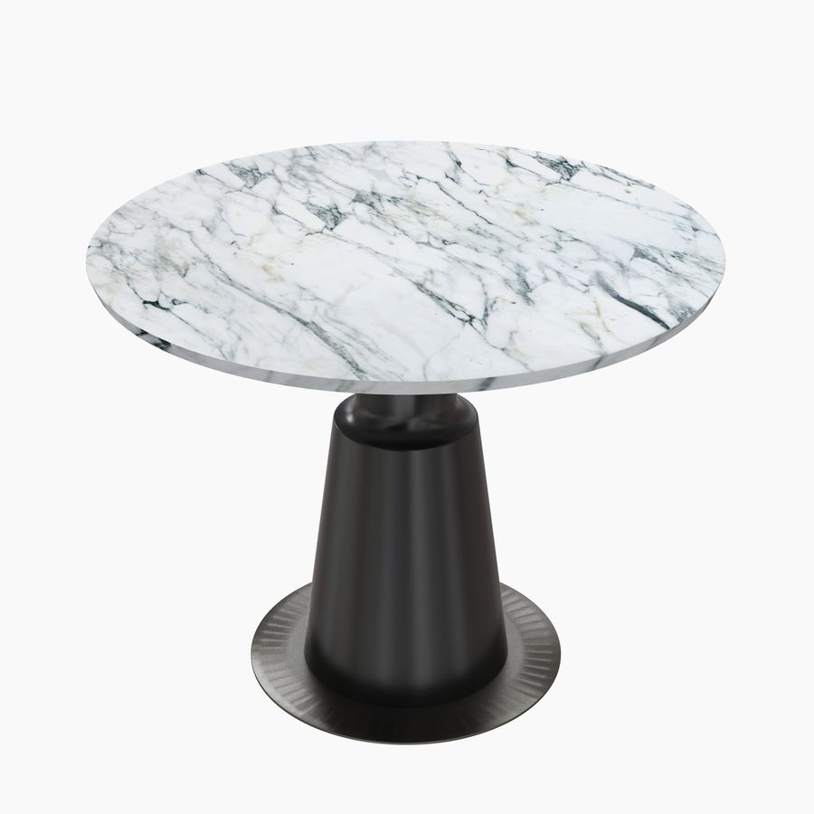 Peso Dining Table PES0-DT-ST Holly Hunt royalty-free 3d model - Preview no. 4