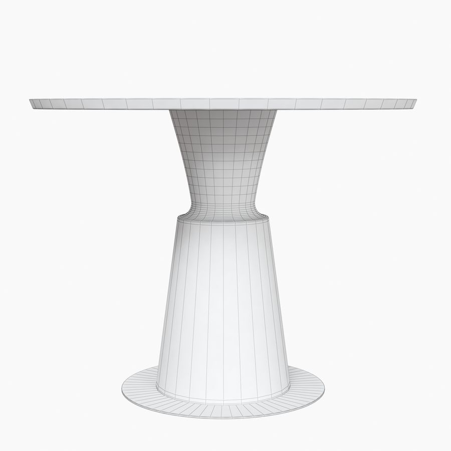 Peso Dining Table PES0-DT-ST Holly Hunt royalty-free 3d model - Preview no. 8