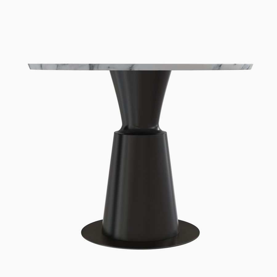 Peso Dining Table PES0-DT-ST Holly Hunt royalty-free 3d model - Preview no. 3