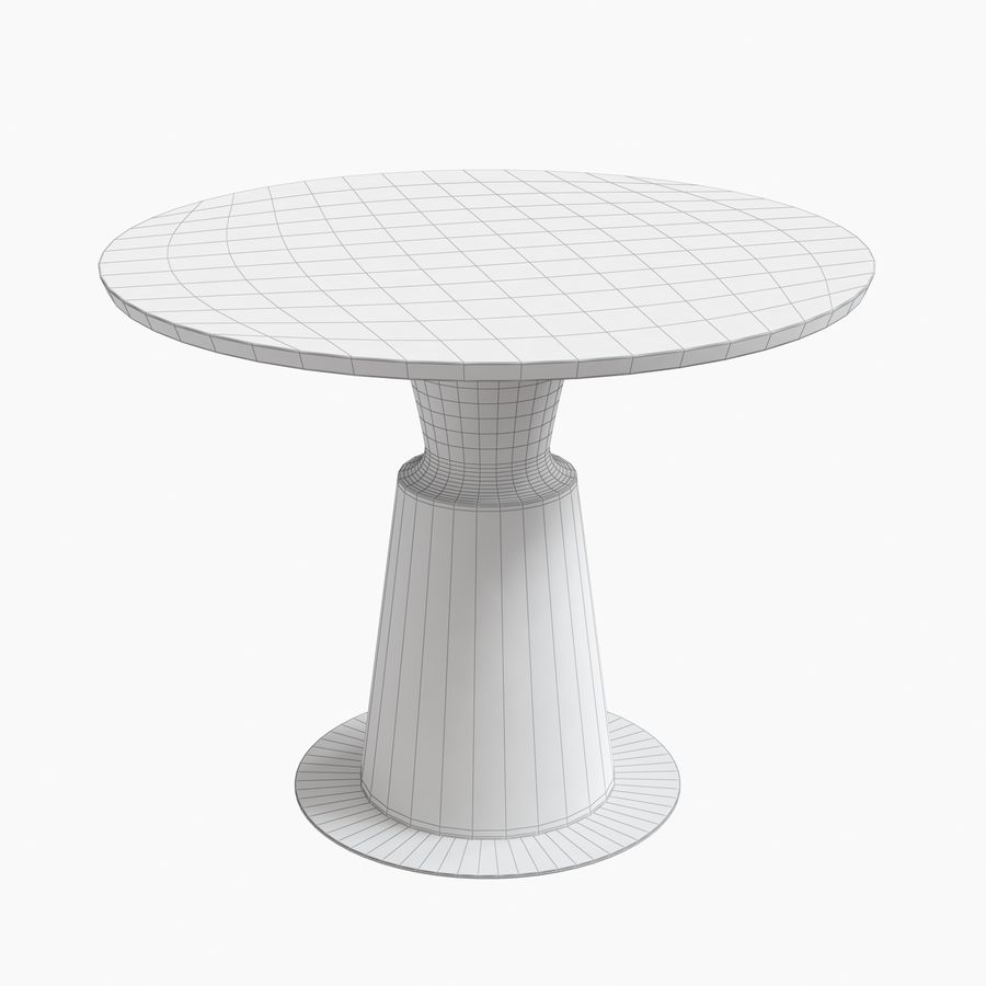 Peso Dining Table PES0-DT-ST Holly Hunt royalty-free 3d model - Preview no. 6