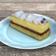 现实的柠檬芝士蛋糕Lowpoly 3D模型 3d model