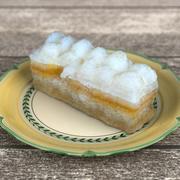 逼真的柠檬雪纺蛋糕3D模型 3d model