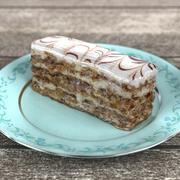 Realistic Walnut Cake 3D Model 3d model