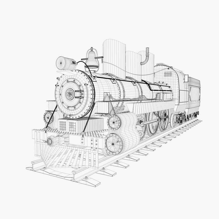 Locomotive royalty-free 3d model - Preview no. 6