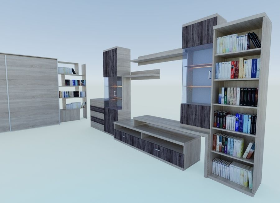 Living Room Furniture royalty-free 3d model - Preview no. 7
