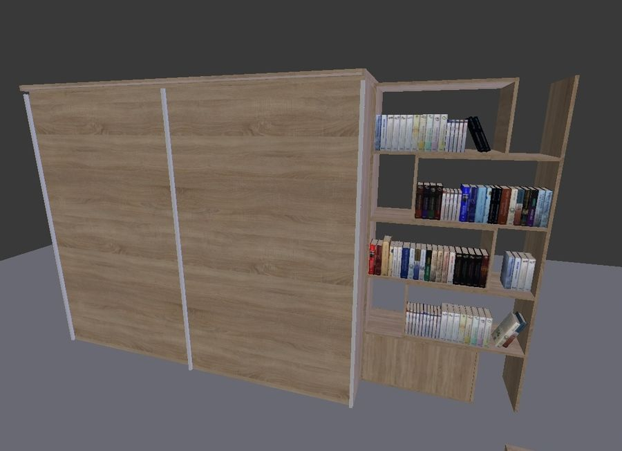 Living Room Furniture royalty-free 3d model - Preview no. 5