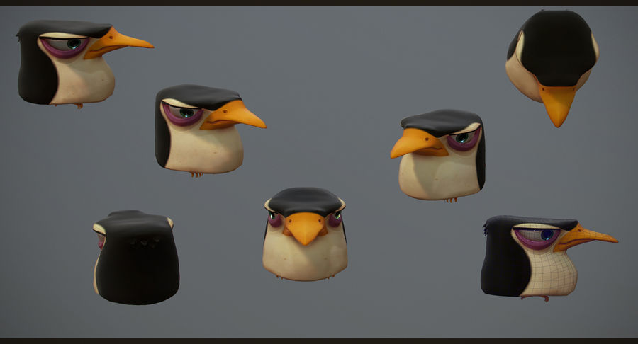 Pinguim royalty-free 3d model - Preview no. 6