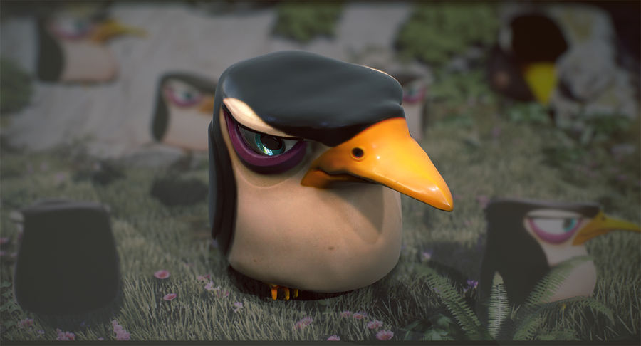 Pinguim royalty-free 3d model - Preview no. 5