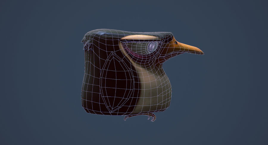 Pinguino royalty-free 3d model - Preview no. 8