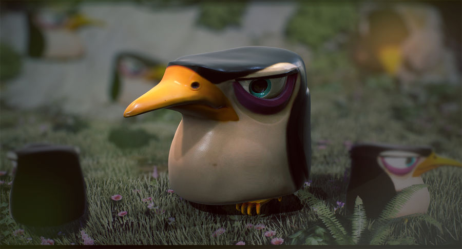 Pinguino royalty-free 3d model - Preview no. 4