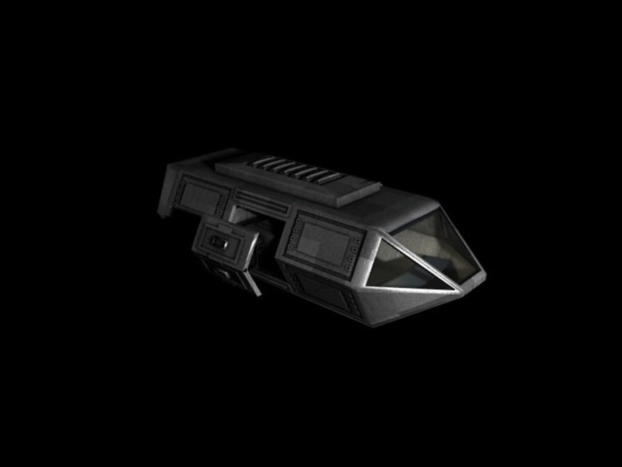 SpaceShip royalty-free 3d model - Preview no. 2