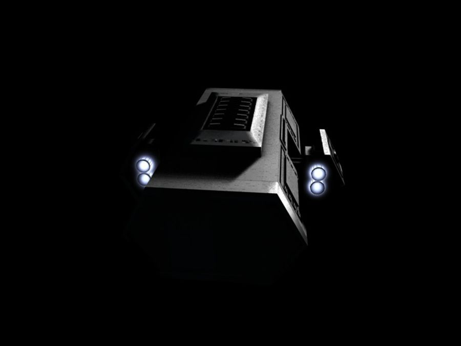 SpaceShip royalty-free 3d model - Preview no. 5