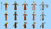 lowpoly medieval character pack 3d model