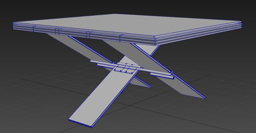 Дизайн стола royalty-free 3d model - Preview no. 14