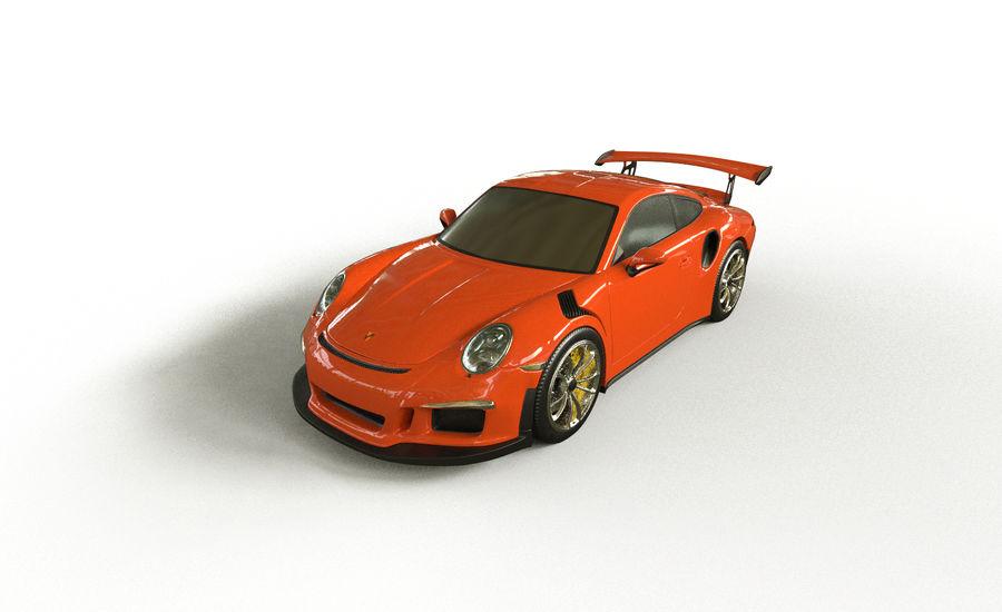 Porsche 911 gt 3 royalty-free 3d model - Preview no. 4