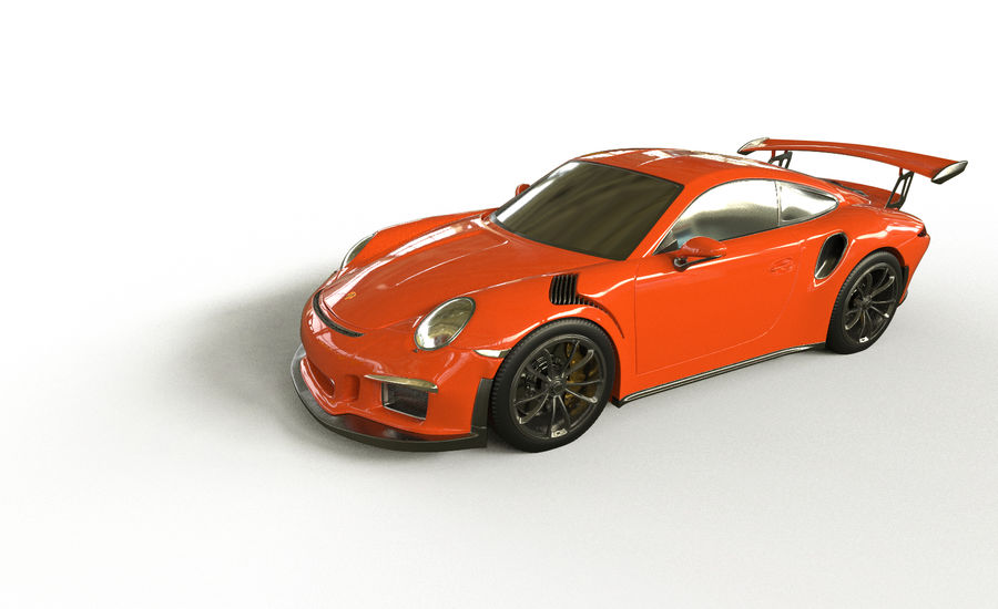 Porsche 911 gt 3 royalty-free 3d model - Preview no. 1