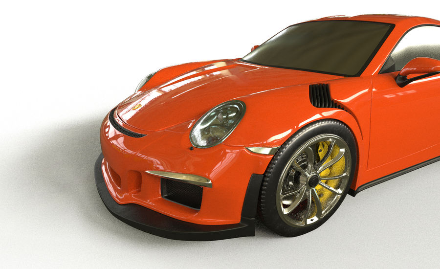 Porsche 911 gt 3 royalty-free 3d model - Preview no. 2