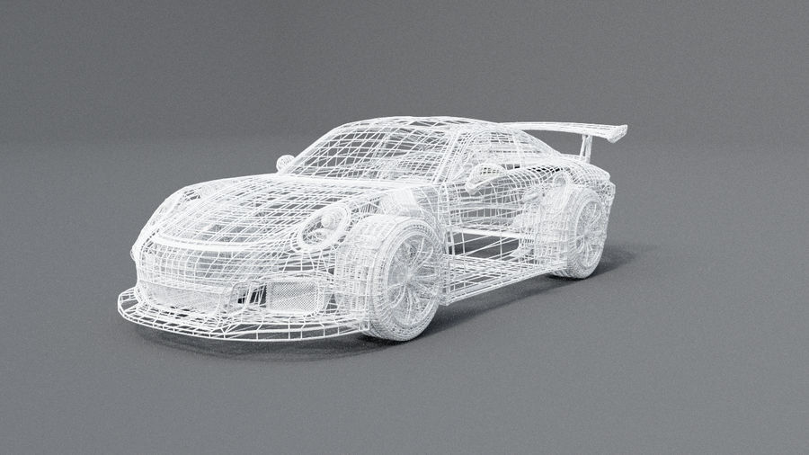 Porsche 911 gt 3 royalty-free 3d model - Preview no. 5