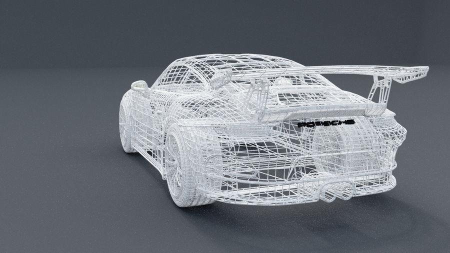 Porsche 911 gt 3 royalty-free 3d model - Preview no. 6