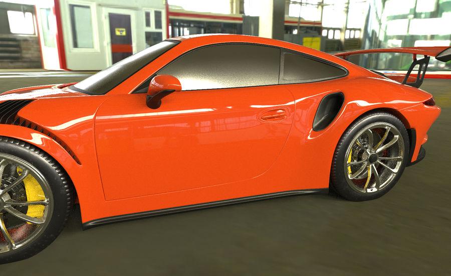 Porsche 911 gt 3 royalty-free 3d model - Preview no. 3