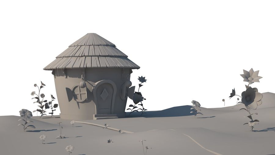stylized  environment royalty-free 3d model - Preview no. 1